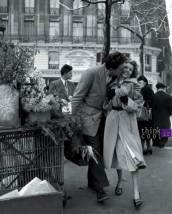 Les amoureux aux poireaux - Roberto Doisneau
