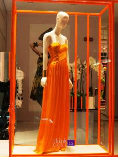 Blumarine orange long dress