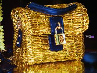 Dolce & Gabbana Gold & Blue Bag