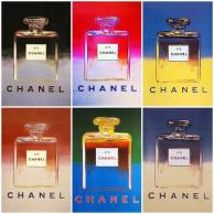 Andy Warhol and Chanel bottle