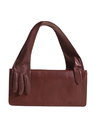 glove dark red bag 129 €