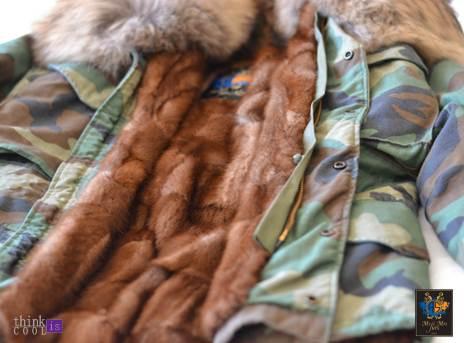 Camuflage parka & fur