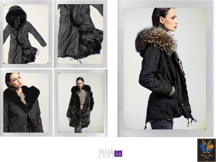 black parka and fur